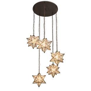 Moravian Star 5-Light Pendant by Meyda Tiffany