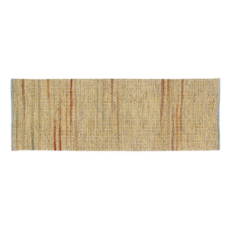 Bungalow Rose Pixley Rectangular Hand-Woven Wool Mustard Area Rug, Size: Runner 2 x 6