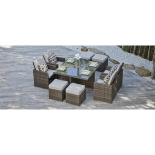 Red Barrel Studio Fisher 9 Piece Dining Set with Cushion