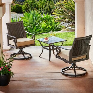 Kingston Seymour Milano 3 Piece Bistro Set with Cushions