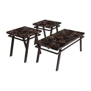 Winston Porter Riviera 3 Piece Coffee Table Set (Set of 3)