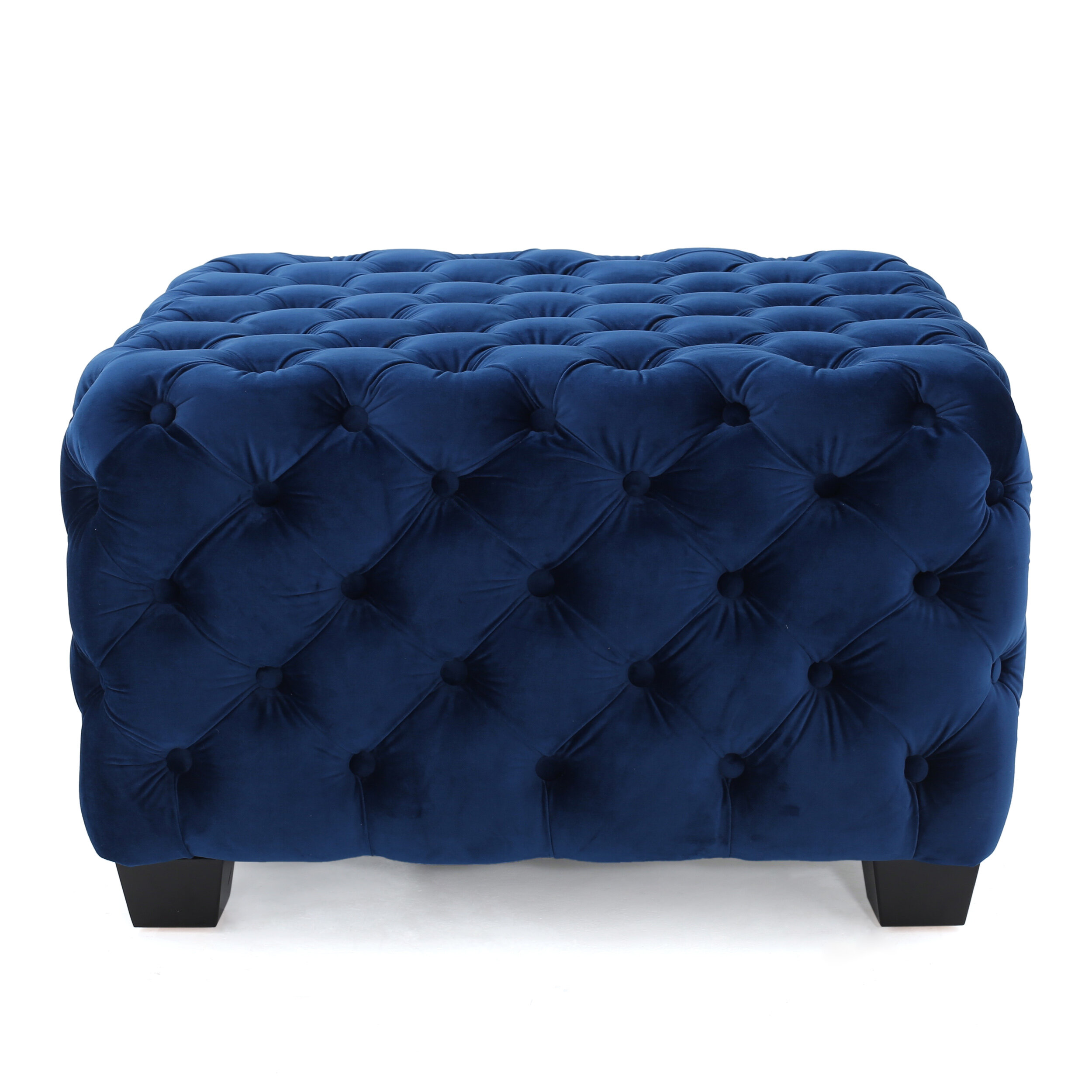 Willa Arlo Interiors Geoffrey29 Velvet Tufted Square Cocktail Ottoman Reviews Wayfair