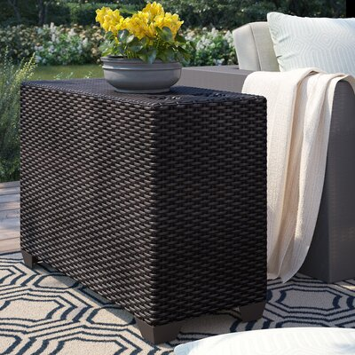 Tegan Wicker/Rattan Side Table by Sol 72 Outdoor Wonderful