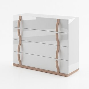 Brayden Studio Alice Gloss 4 Drawer Dresser