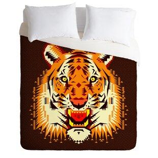 East Urban Home Geometric Tiger Duvet Cover Set