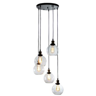 Reviews Buragate 5-Light Cluster Pendant By Gracie Oaks