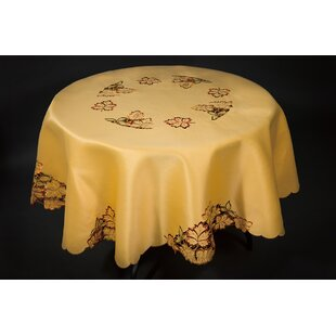 Wendling Embroidered Cutwork Fall Table Cloth