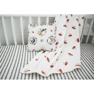 Flora Leaf Stripe Printed Fitted Crib Sheet