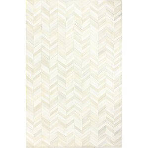 wright cow hide white area rug