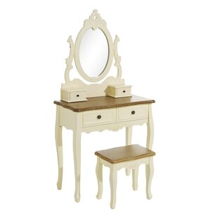 Duggan Dressing Table Set With Mirror By Bloomsbury Market