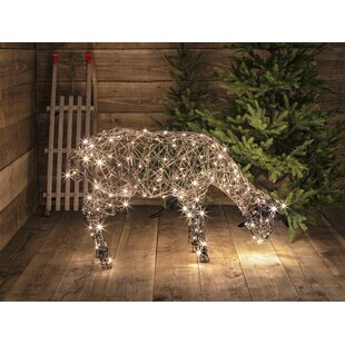 Wicker Grazing Sheep Lighted Display By August Grove