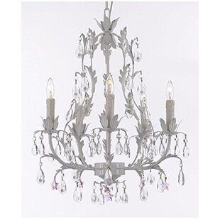 House of Hampton Moises Floral 5-Light Ch..