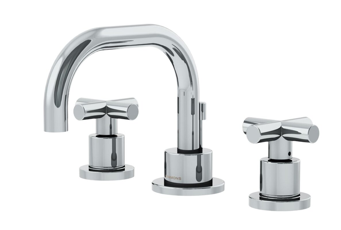 Symmons Dia Low Spout Widespread Standard Bathroom Faucet Double ...