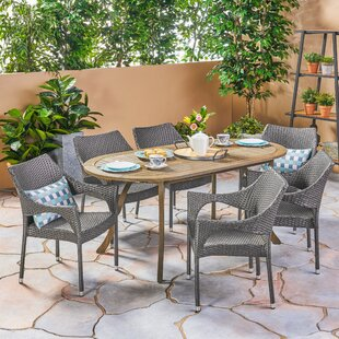 Wrought Studio Macaulay Outdoor 7 Piece Dining Set