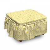 Brick Printed Texture Ottoman Slipcover (Set of 2) by East Urban Home