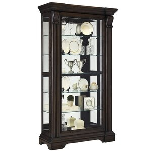 Glencoe Lighted Curio Cabinet by Darby Home Co