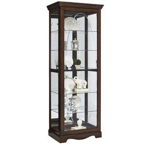 Blake Etched Lighted Curio Cabinet by Darby Home Co