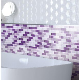 Purple Mosaic Tile Youll Love Wayfair - Purple-mosaic-bathroom-tiles