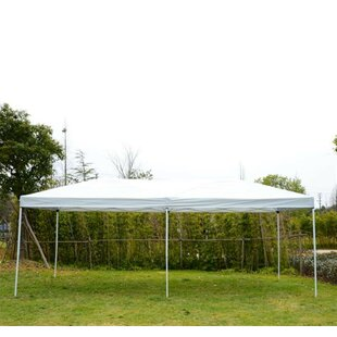 20 Ft. W x 10 Ft. D Steel Pop-Up Party Tent Canopy by Outsunny
