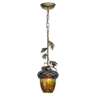 Meyda Tiffany Greenbriar Oak 1-Light Novelty Pendant