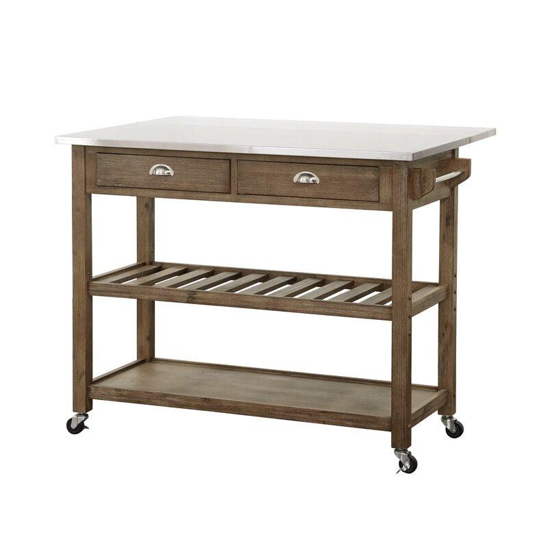 Awesome Kitchen Cart With Stainless Steel Top