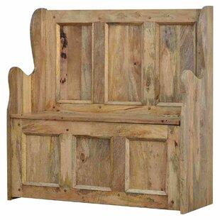 Review Boulder Wooden Storage Hallway Bench
