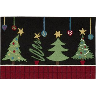 Monahan Christmas Tree Black Area Rug