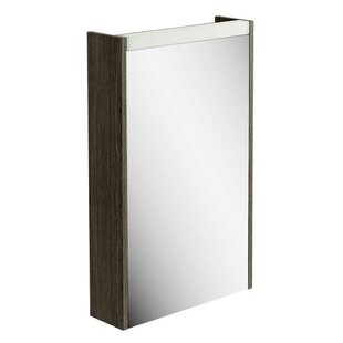 Review Aceves 45cm X 73cm Surface Mount Mirror Cabinet With LED Lighting