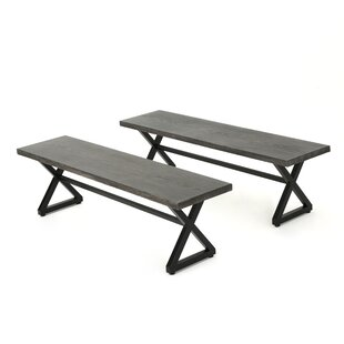 Union Rustic Lal Modern Outdoor Aluminum Picnic Bench