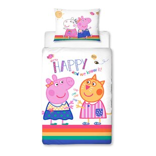 Pig Cot Bed Bedding Set by Peppa Pig