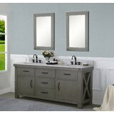 Sean 72 Double Bathroom Vanity Set with Mirror by Laurel Foundry Modern Farmhouse