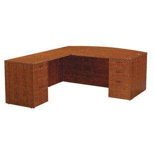 Red Barrel Studio Blairview L-Shape Bow Top Desk