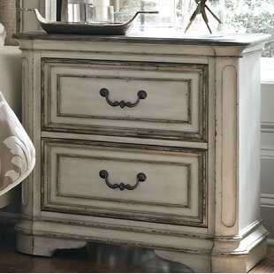 One Allium Way Niels 2 Drawer Nightstand