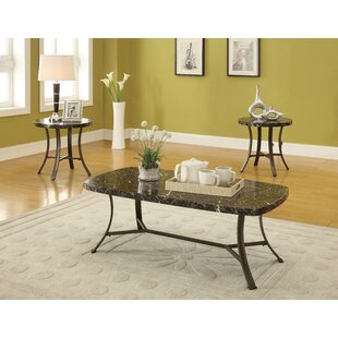 Zapata 3 Piece Coffee Table Set by Fleur De Lis Living Design