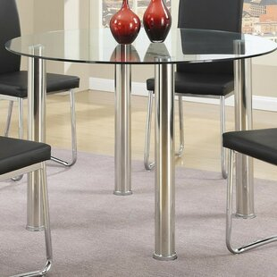 Bay Glass Dining Table Orren Ellis