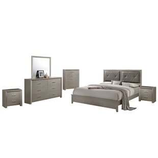 Whitaker Panel 6 Piece Bedroom Set by Mercer41