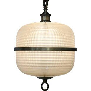 Noir 1-Light Drum Pendant
