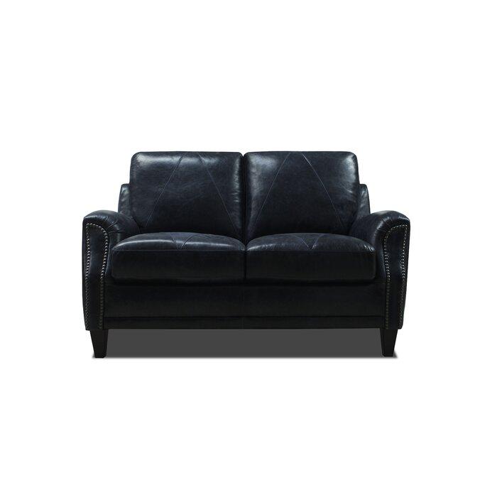 Phenomenal Anya Leather Loveseat Theyellowbook Wood Chair Design Ideas Theyellowbookinfo