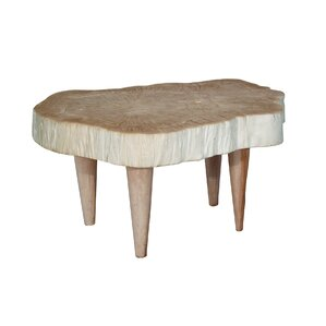 Bleached Wood Coffee Table by Ibolili
