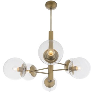 Corrigan Studio Cissell Mid Century 5-Light Chandelier