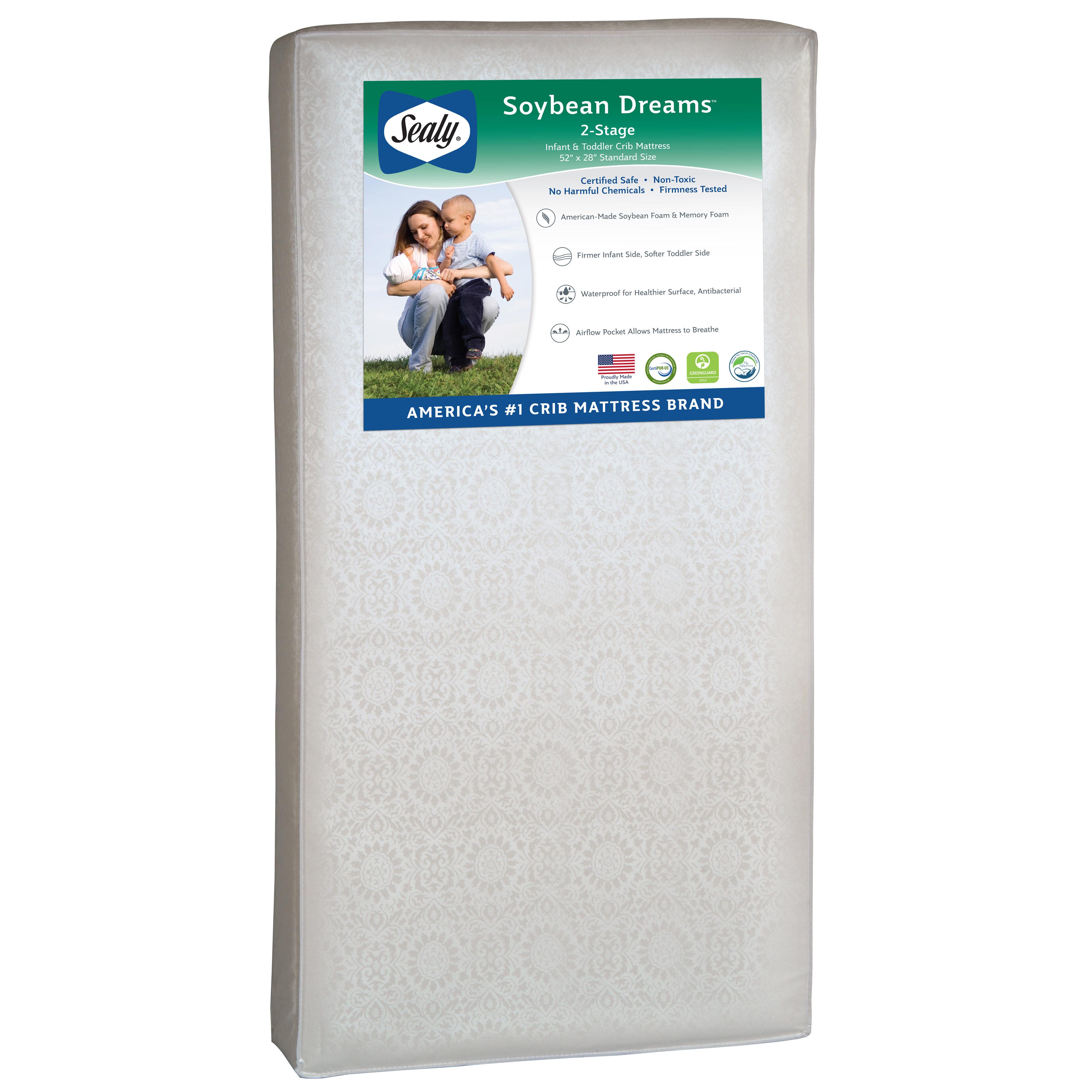 Sealy Soybean Dreams 2 Stage Waterproof Standard Toddler Crib Mattress Reviews Wayfair