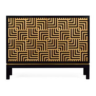 Op Art Accent Cabinet by Jonathan Charles Fine Furniture