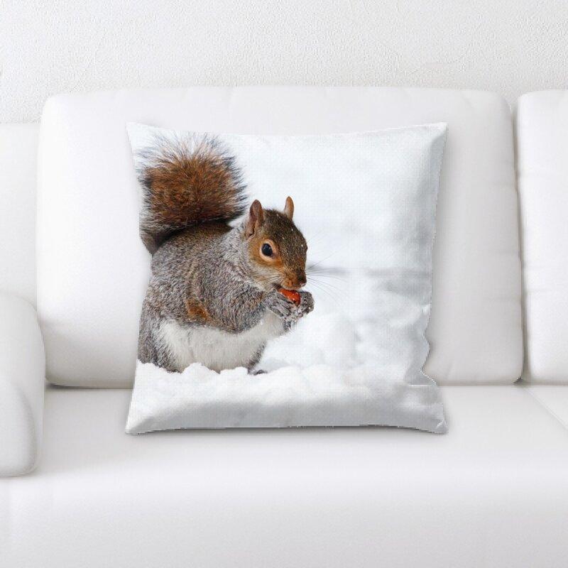 East Urban Home Squirrel Throw Pillow Wayfair