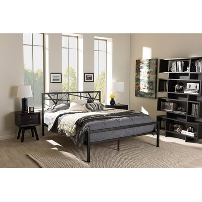 Carvalho Platform Bed Wrought Studio