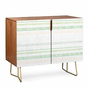 Holli French Linen Stripe Accent Cabinet