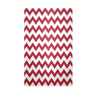 Read Reviews Chevron Red Indoor/Outdoor Area Rug By e by design