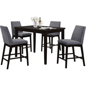 Kingston Seymour 5 Piece Counter Height Dining Set by Latitude Run
