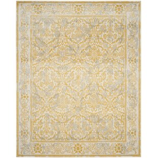 Stambaugh Ivory/Gold Area Rug by Lark Manor