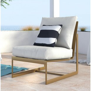 Mirabelle Armless Patio Chair With Cushion by Elle Decor Today Only Sale