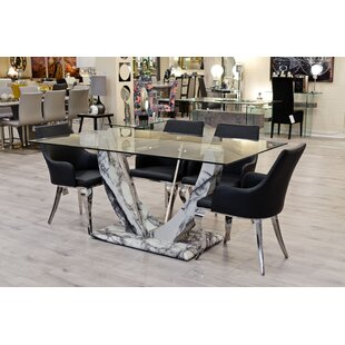 Connell Dining Set With 6 Chairs By Canora Grey